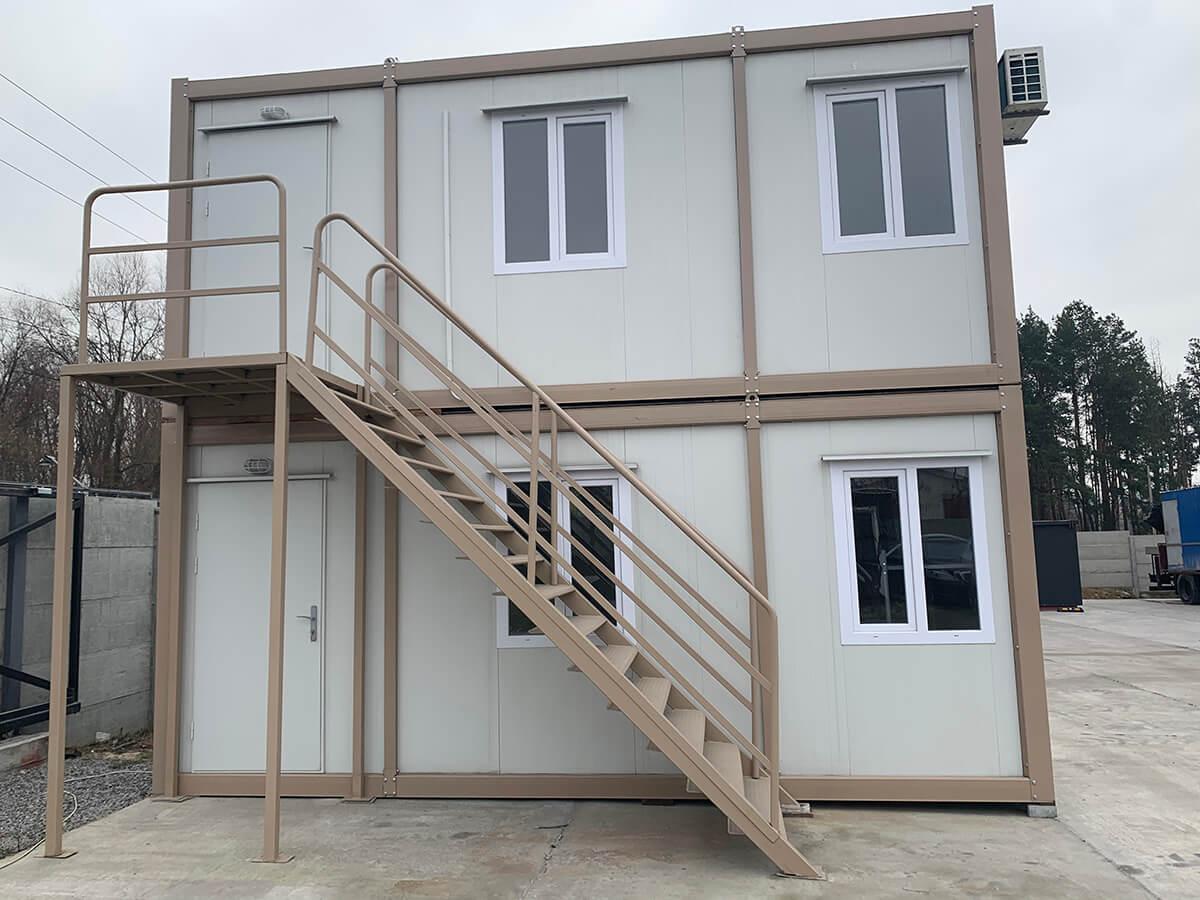 Офіс з блок модулів 2 поверхи, з металевою драбиною, 240х600, Кармод